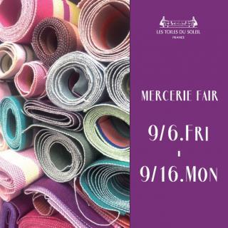 「mercerie fair」開催のお知らせ
